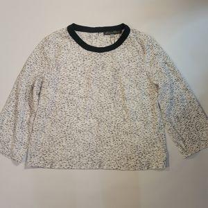 Rose &olive  black/white blouse size medium